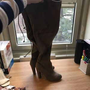 Ran over the knee boots